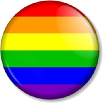 Rainbow Flag Pinback Button Badge Novelty Fun Gay Pride LGBTQ Out and Proud