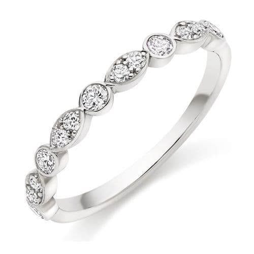 0.35cts Marquise and Round diamond ring