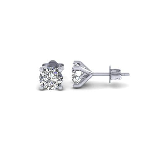 Diamond solitaire stud earring remodel