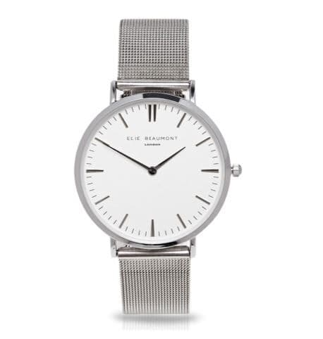 Oxford Small Mesh Silver Watch