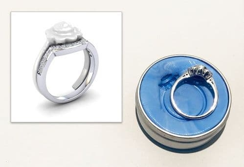 Shaped Wedding Ring Design Package