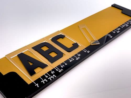 3D & 4D Number Plate Spacing Jig for Standard & Personalised Registrations. NON GB
