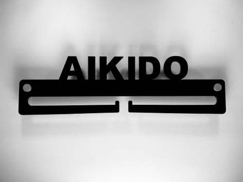 Medal Display Hanger Holder Aikido Black Acrylic with fixings & FREE POST