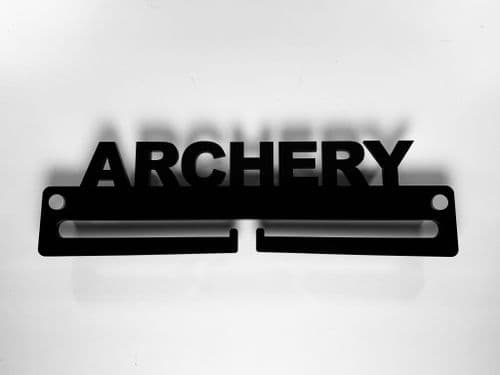 Medal Display Hanger Holder ARCHERY Black Acrylic with fixings & FREE POST