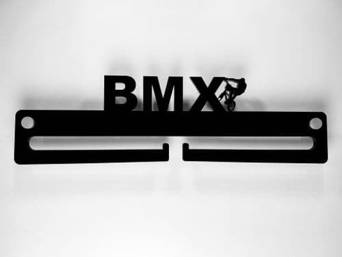 Medal Display Hanger Holder BMX Black Acrylic with fixings & FREE POST