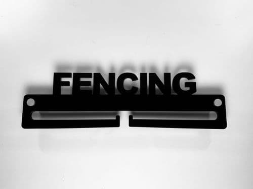 Medal Display Hanger Holder FENCING Black Acrylic with fixings & FREE POST