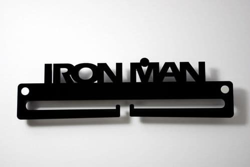 Medal Display Hanger Holder IRON MAN Black Acrylic with fixings & FREE POST