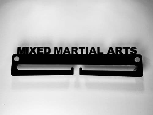 Medal Display Hanger Holder MIXED MARTIAL ARTS Black Acrylic with fixings & FREE POST