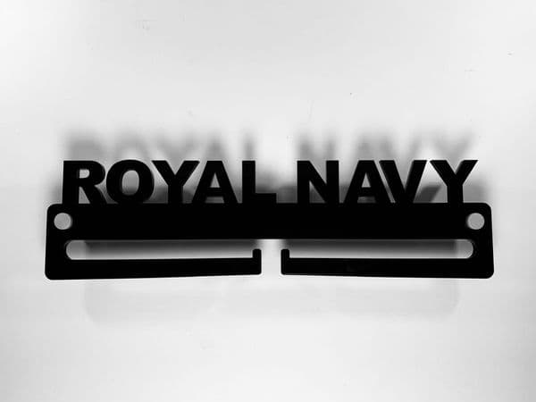 Medal Display Hanger Holder ROYAL NAVY Black Acrylic with fixings & FREE POST