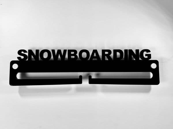 Medal Display Hanger Holder SNOWBOARDING Black Acrylic with fixings & FREE POST