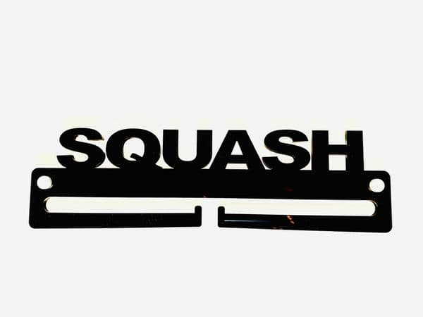 Medal Display Hanger Holder SQUASH Black Acrylic with fixings & FREE POST