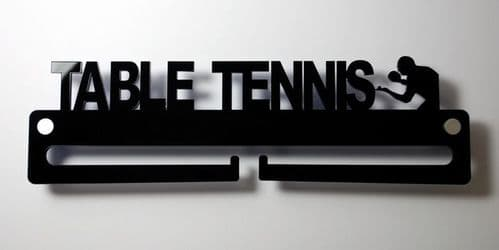 Medal Display Hanger Holder TABLE TENNIS Black Acrylic with fixings & FREE POST