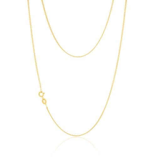 9ct Yellow Gold Fine Curb Chain