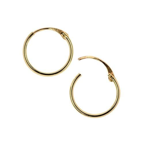 9ct Yellow Gold Light Hoops