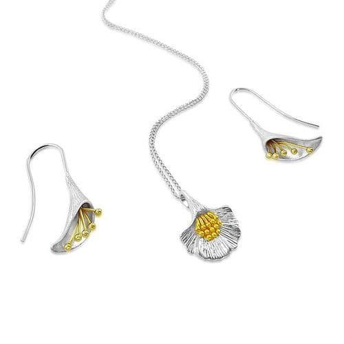 Calla Lily Necklace & Earring Set