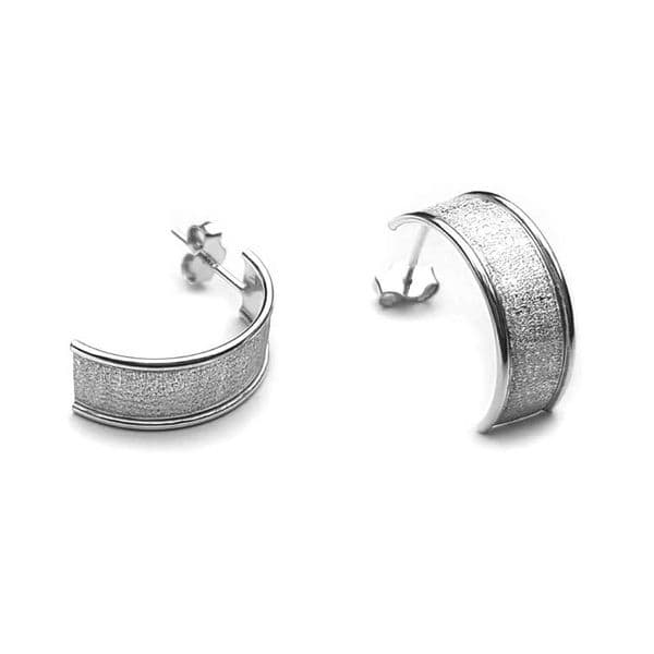 Curve Frosted Earrings
