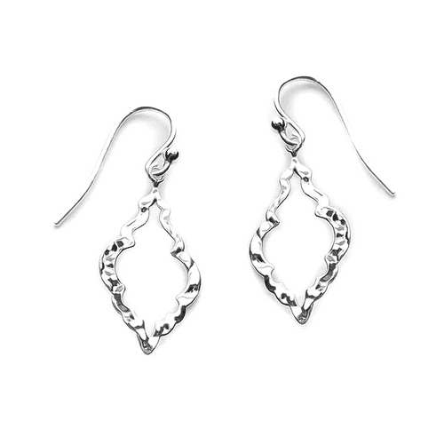 Hammered Diamond-Shaped Earrings