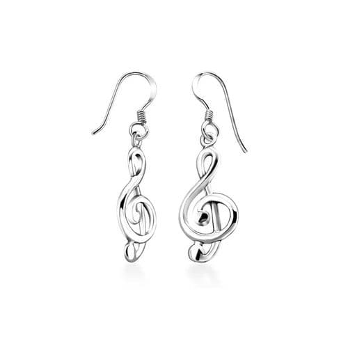 Musical Key Earrings