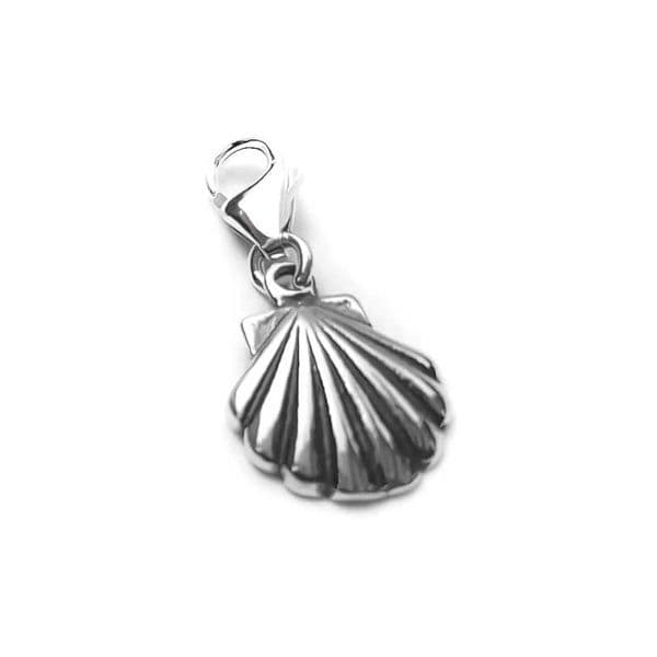 Sea Shell Charm - Silver Oyster Shell Charm | House of Silver