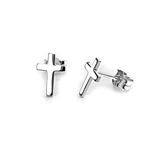 Small Cross Studs