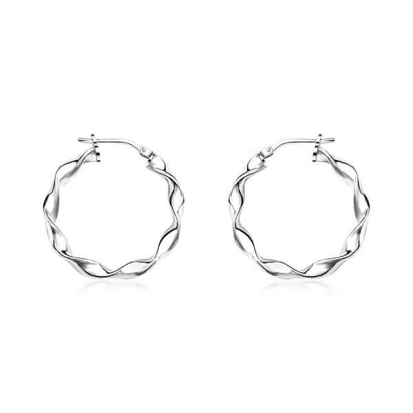Twisted Creole Hoop Earrings