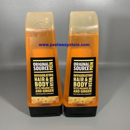 2 X Original Source Invigorating Hair & Body Wash With Orange Oil & Ginger