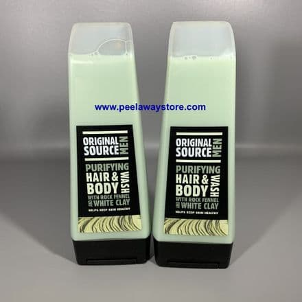 2 X Original Source Men Hair & Body wash - Purifying Rock Fennel & White Clay