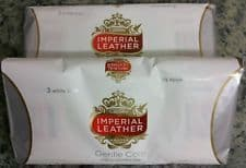Cussons IMPERIAL LEATHER Gentle Care Mild For Sensitive Skin- 3 X White Bars