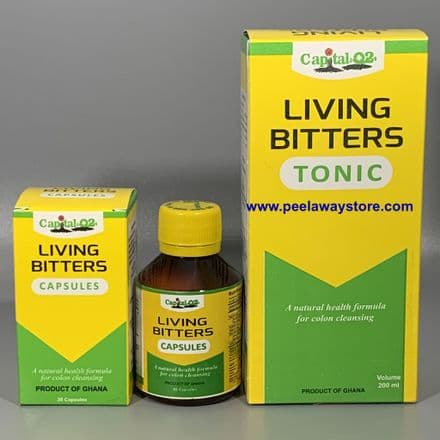 Living Bitters Capsules /Tonic -A Natural Health Formula for Colon Cleansing