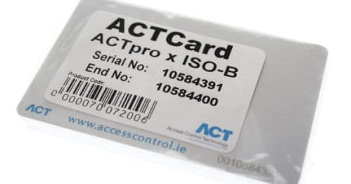 ACT PROX ISO-B PACK OF 10 BATCH CARDS (125 KHZ)