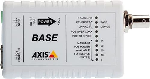 Axis POE INJECT T8640 POE+ Over Coax Adap 5026-401