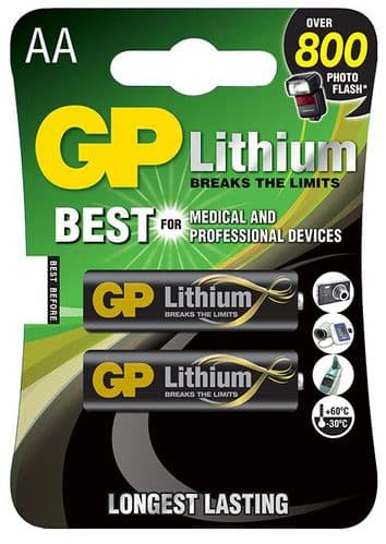 Commodity BATTERY LITHIUM AA 1.5V Pack 2 GPPCL15LF000