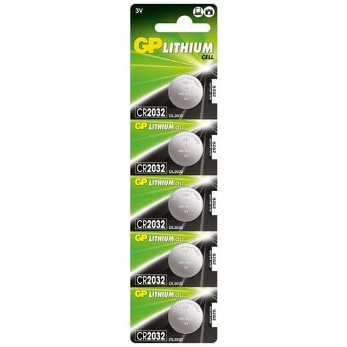 Commodity BATTERY LITHIUM CR2032 Button Cell Pk5 GPPBL2032002