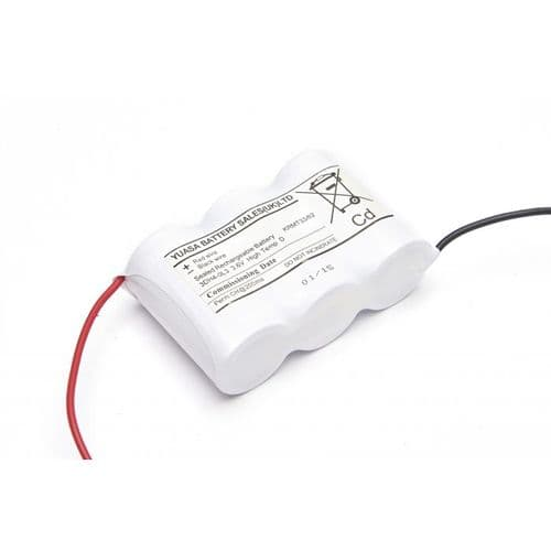 Yuasa BATTERY NICAD 3 cell D side/side w/leads 3DH4-0L3