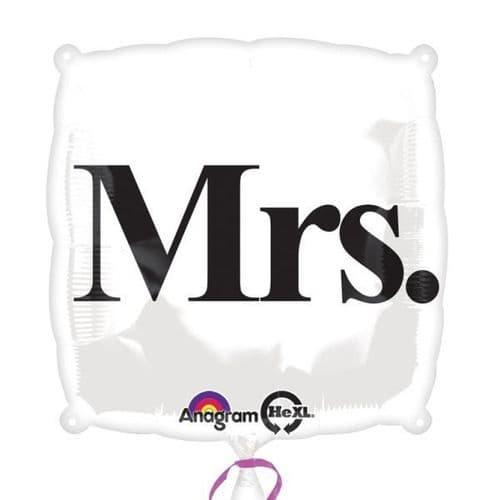 """""""Mrs."""" Standard Foil Balloon"""