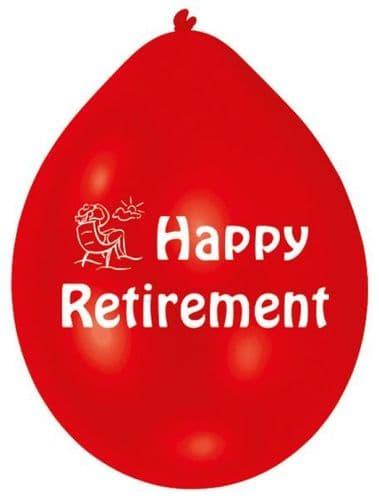 "10 x 9"" Happy Retirement Latex Balloons Air Fill"