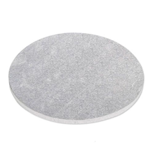 """13"""" Round Cake Drum Silver Foil  - pack of 5"""