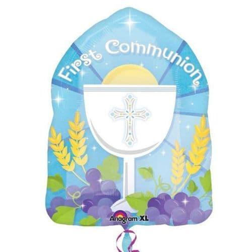 """1st Communion Blue JuniorShape 14"""" x 18"""""""