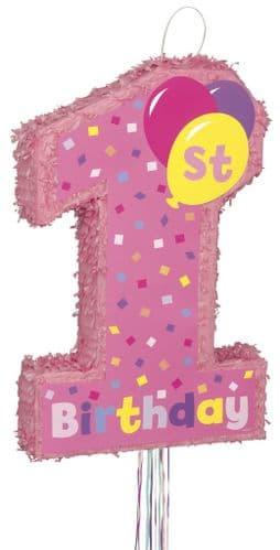 1st Happy Birthday Girl Pull Popout Pinta