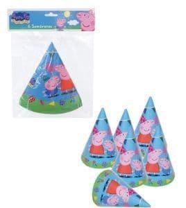 2 x packs of 6 Peppa Pig cone hats