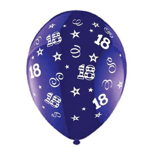 "25 x 11"" Birthday Perfection 18 Crystal Celebration Purple Balloons"