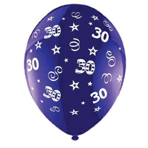 "25 x 11"" Birthday Perfection 30 Crystal Celebration Purple Balloons"
