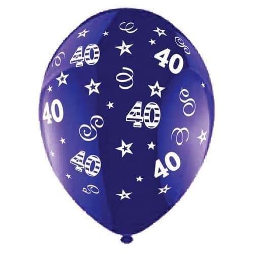 "25 x 11"" Birthday Perfection 40 Crystal Celebration Purple Balloons"