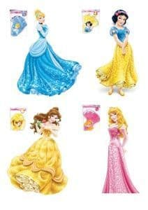 4 x Disney Princess cutouts 100cm
