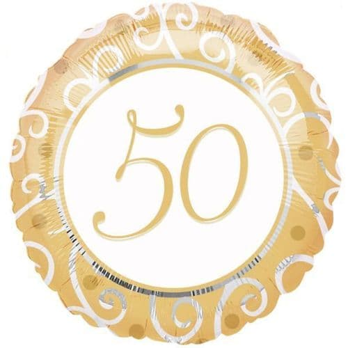 "50th Anniversary Standard Foil Balloon 18"""