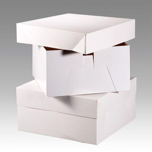 "8"" Cake Square Box White - pack of 10"