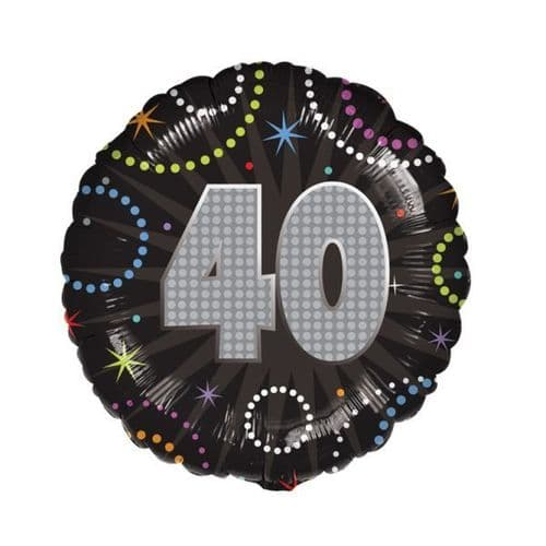A Time To Party 40th Foil Balloon