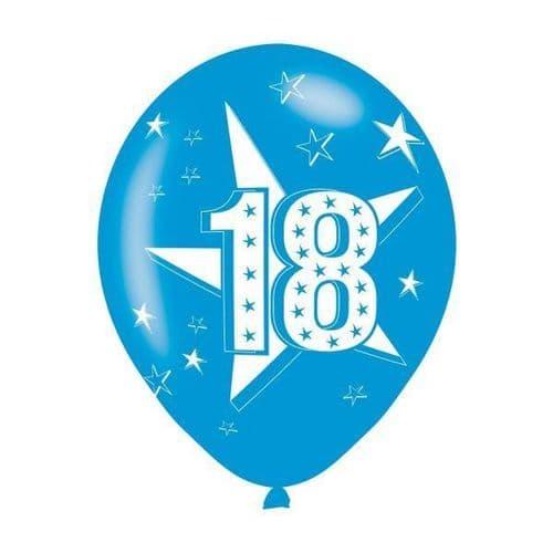 Age 18 Blue Latex Balloons