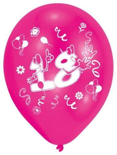 Age 18 Latex Balloons