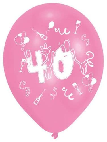 Age 40 Latex Balloons